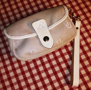 Dooney & Bourke Canvas and Leather Wristlet
